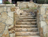 Custom Stone Wall Stairs